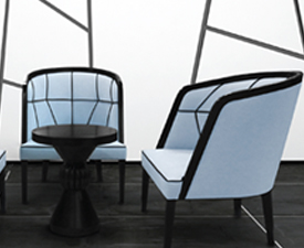 blue rounded chairs